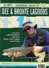 Dee Lagoon, Bronte Lagoon, Lake King William, Lake Echo, Bradys Chain of Lakes, Lake St Clair.Map