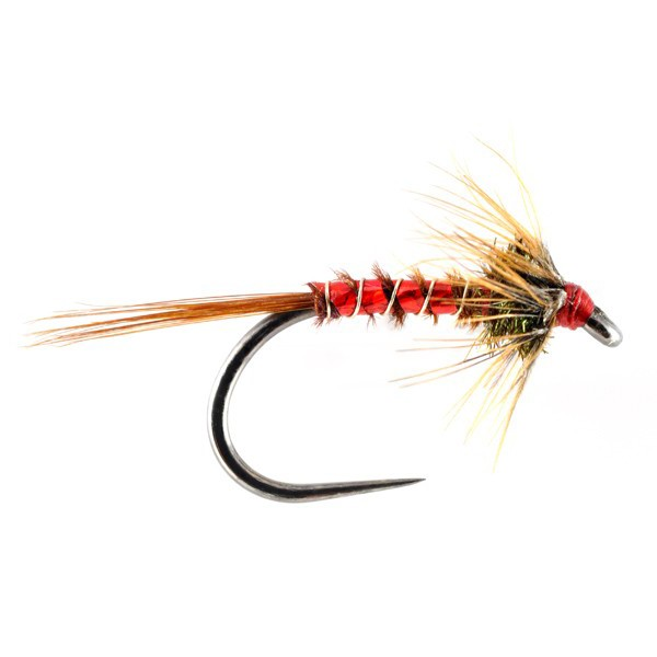 Red holographic cruncher trout flies australia fly for Online fly fishing store