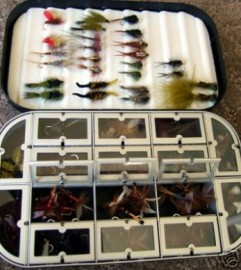 100 OF THE BEST DRY&NYMPH FLY FISHING FLIES BOXED