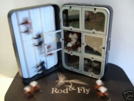 48 Klinkhamer & Emerger fly Fishing Flies In An Aluminium Fly Box