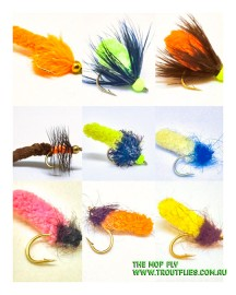 14 Mop Fly collection, River and Lake