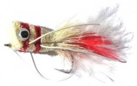 Red and White Popper Bass Bug