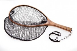 Hi End Fly Fishing Wooden Catch and Release Landing Net