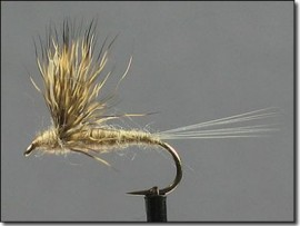 Comparaduns Yellow & Beige Fly Fishing Flies #12,14,16
