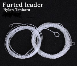 2 Hand-made nylon Tenkara furled leader length 12ft - 30Lb