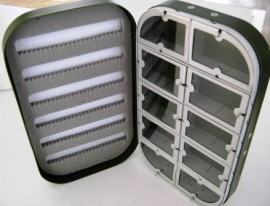 10 Compartments  Aluminium  Slit Foam Fly Box