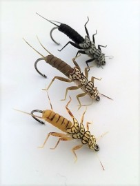 Stonefly Nymph Rubber Legs 3 colours