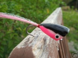 Pink/Black Saltwater Poppers