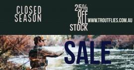 Closed Season Sale