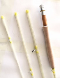 "High quality classic Fibre glass fly rod 8'3"" 6wt"
