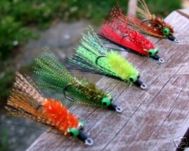 10 Bass Vampires FLY FISHING FLIES SIZE 2