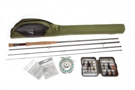 FLY FISHING ROD COMBO STARTER OUTFIT 9ft,LW# 6, 4 SEC