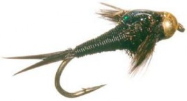 BEAD HEAD COPPER JOHN NYMPH BLACK