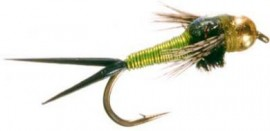 BEAD HEAD COPPER JOHN NYMPH CHARTREUSE