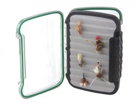 New R & F Fly Box  Hang Foam Waterproof Clear Window 2 Sides