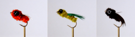 12 Spider Mudeye Collection Olive/Black/Brown Fly Fishing Flies
