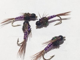 Black Tungsten Purple Pheasant Tail Nymph