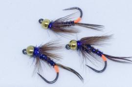 Tungsten Jig Tactical Pheasant Tail Blue Spot