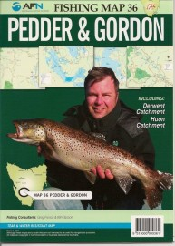 AFN Fishing Map 36 Pedder & Gordon Tasmania