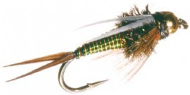 Tungsten Bead Hotwire Prince Nymph Green/Yellow