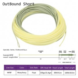 OutBound Short Tropical Fly line