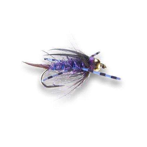 Purple haze black tungsten nymph trout flies australia for Online fly fishing store