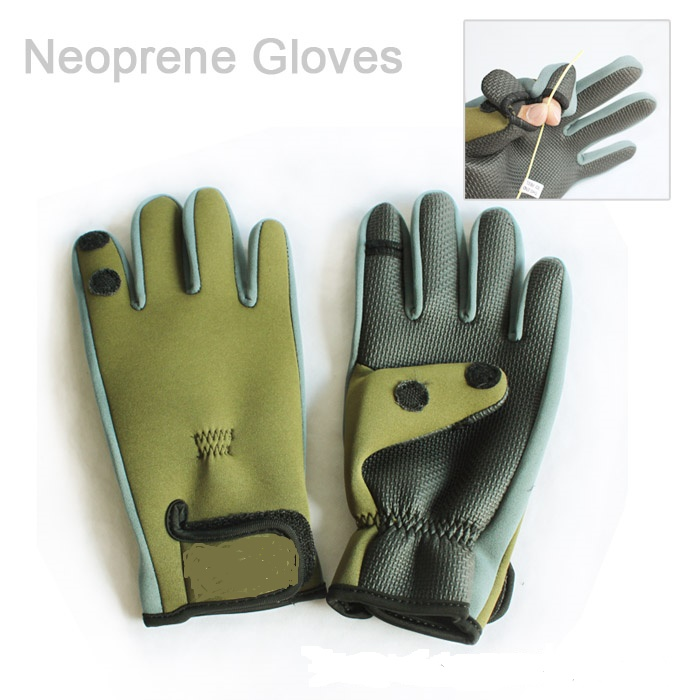 2017 new neoprene fishing gloves 2 fingers exposable for Neoprene fishing gloves